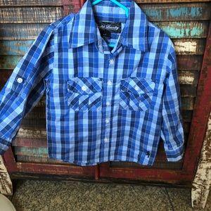 Boys Long Sleeve Button-Up Dress Shirt